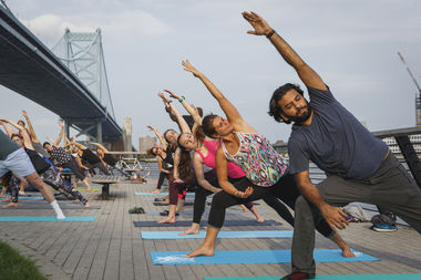 Free Yoga on the Race Street Pier Presented by Aetna