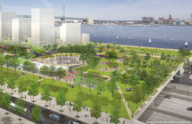 Penn's Landing Cap and Civic Space Looking East