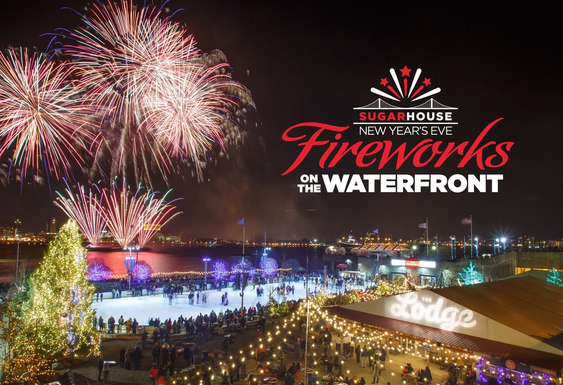 SugarHouse NYE Fireworks on the Waterfront - Multi with Logo