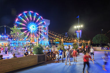 The Ferris Wheel at the Midway at Blue Cross RiverRink Summerfest