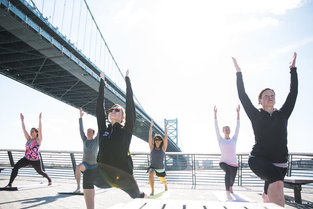 Yoga on the Race Street Pier