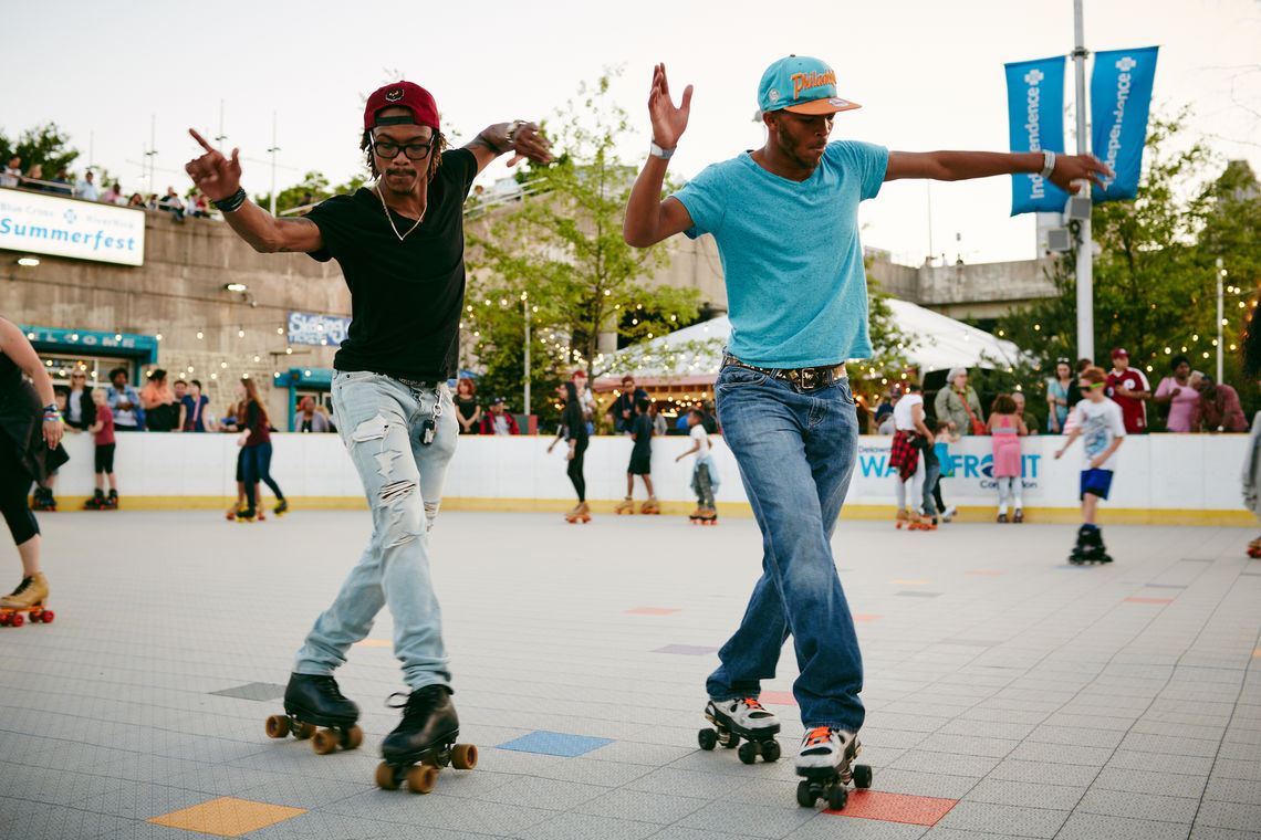 Roller Skaters at Blue Cross RiverRink Summerfest