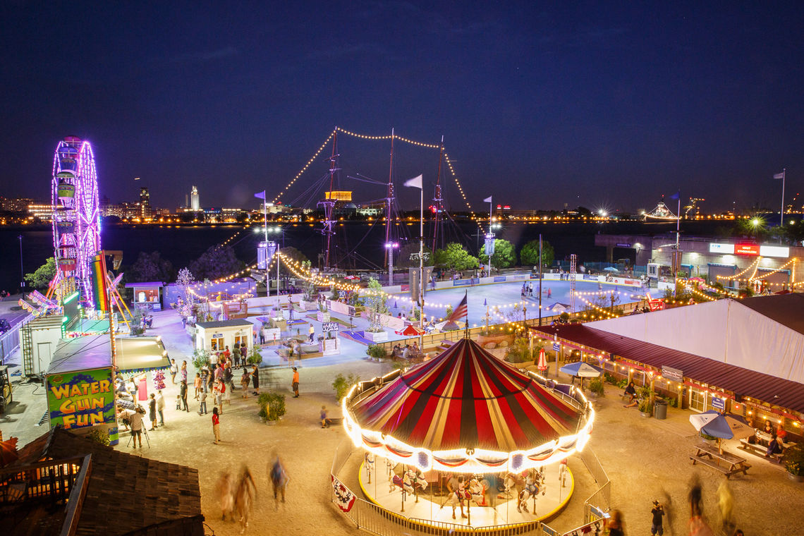 The new Midway at Blue Cross RiverRink Summerfest site