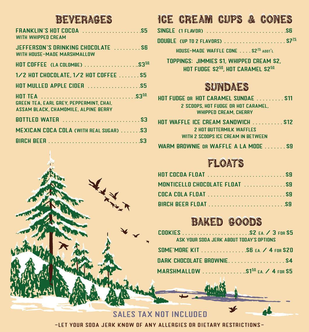 winterfest menu 2018 for emma