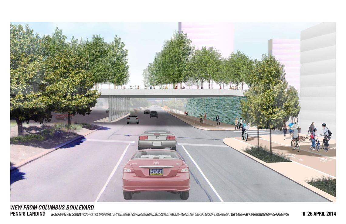 Penn's Landing - Columbus Blvd Rendering