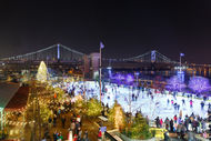 Ice Skating with Views of the Ben Franklin Bridge