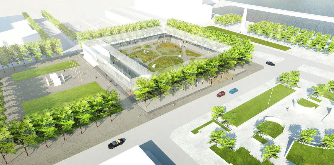 Foglietta Plaza framing rendering