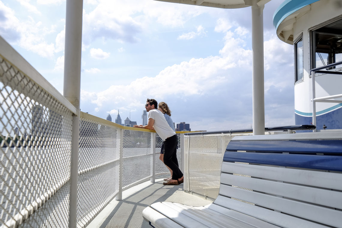 Rediscover the Waterfront from the deck of the RiverLink Ferry