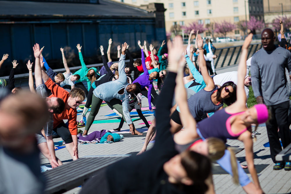 Yoga on the Race Street Pier