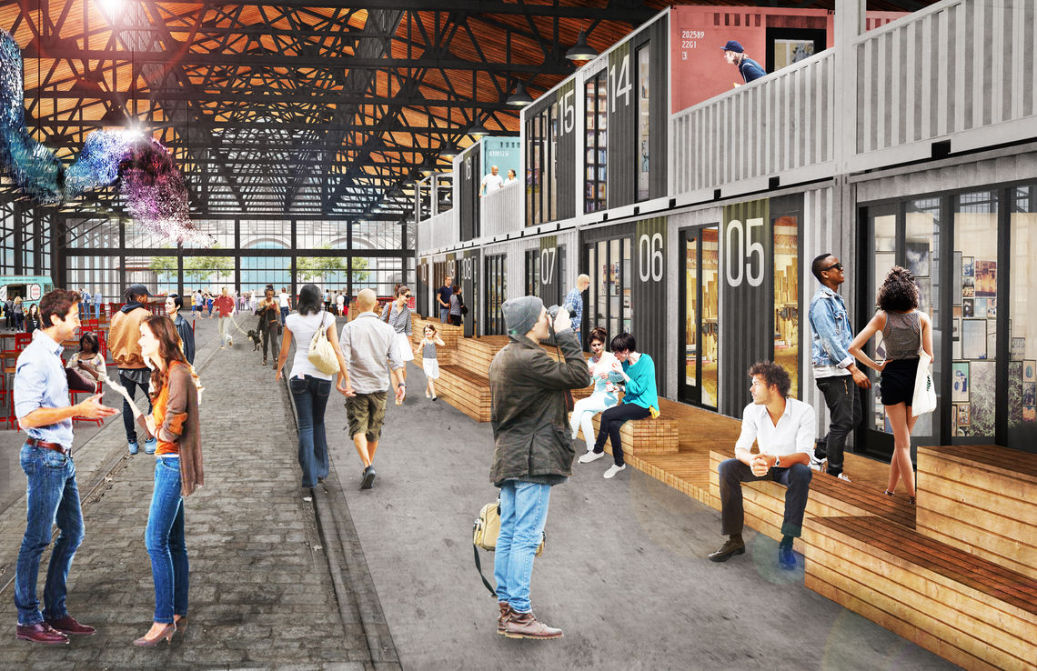 Cherry Street Pier Garage Rendering