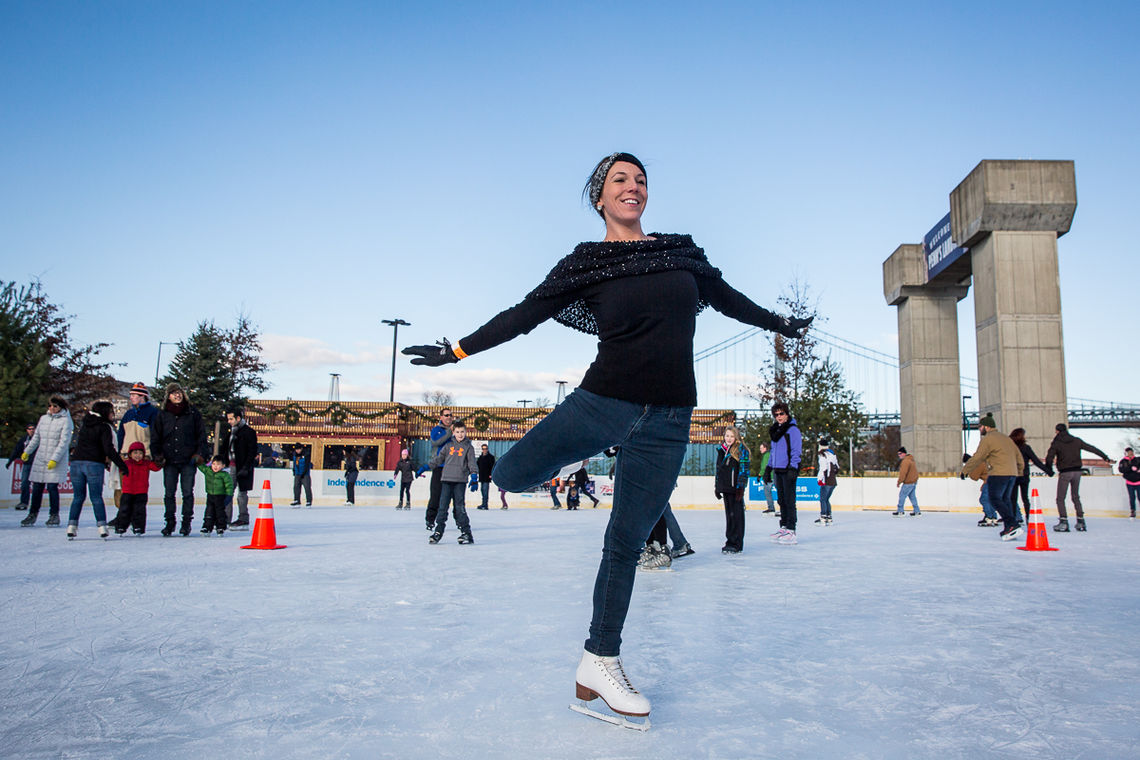 Skater at Blue Cross RiverRink Winterfest