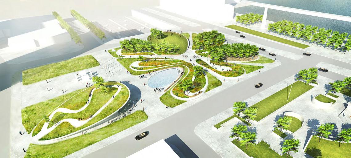 Foglietta Plaza looping rendering