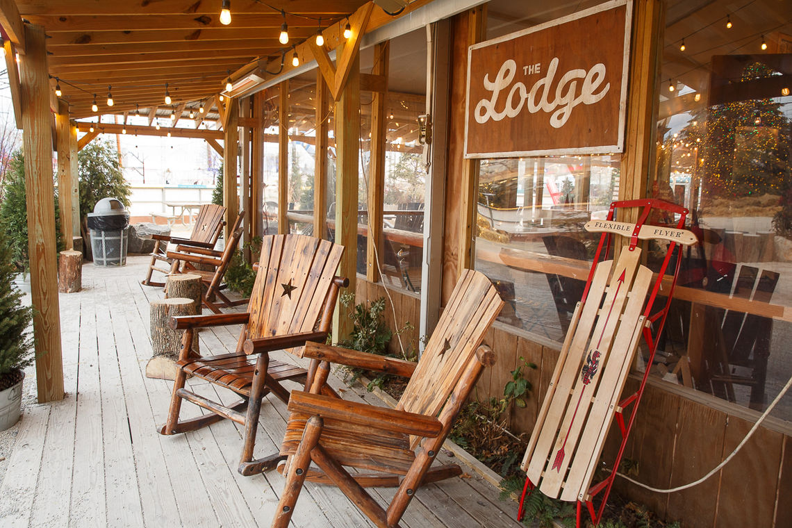 The Lodge Porch at Winterfest