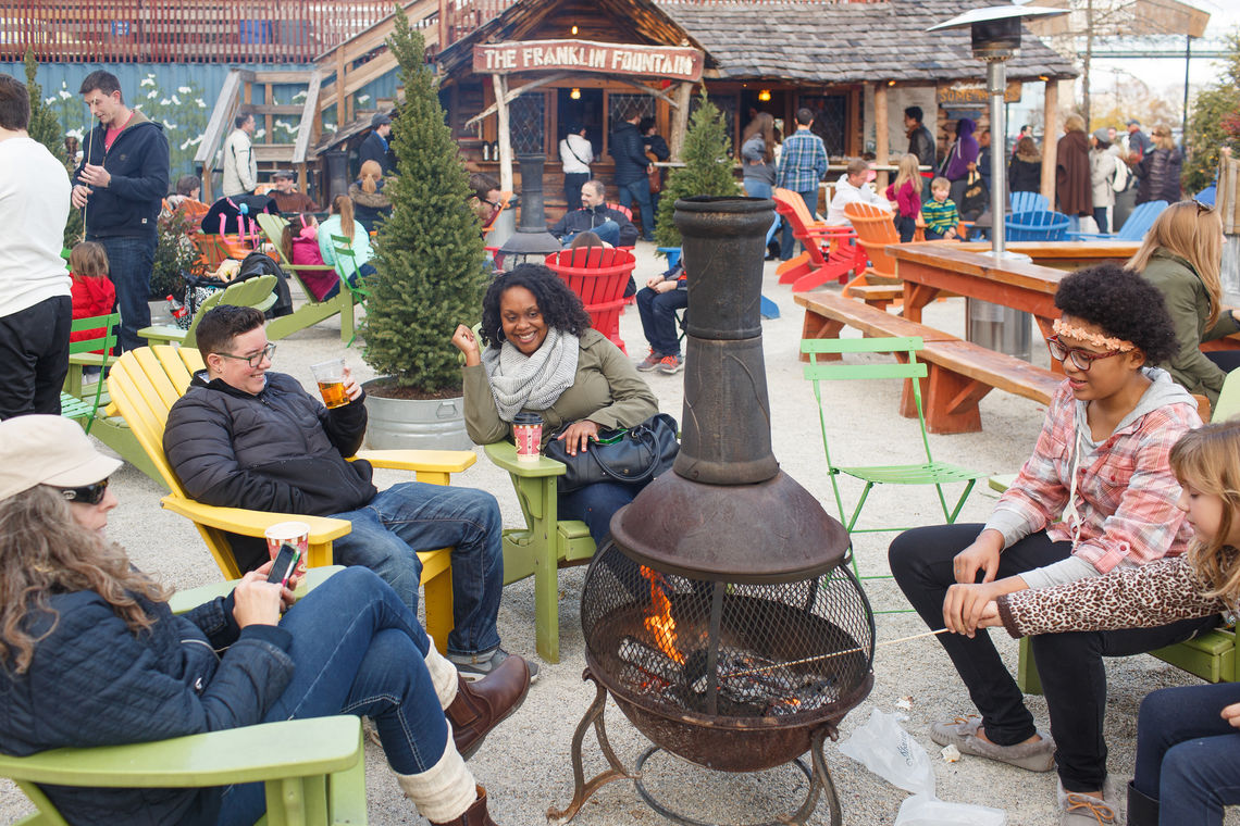 Warm Up by the Fire Pits & Make New Friends