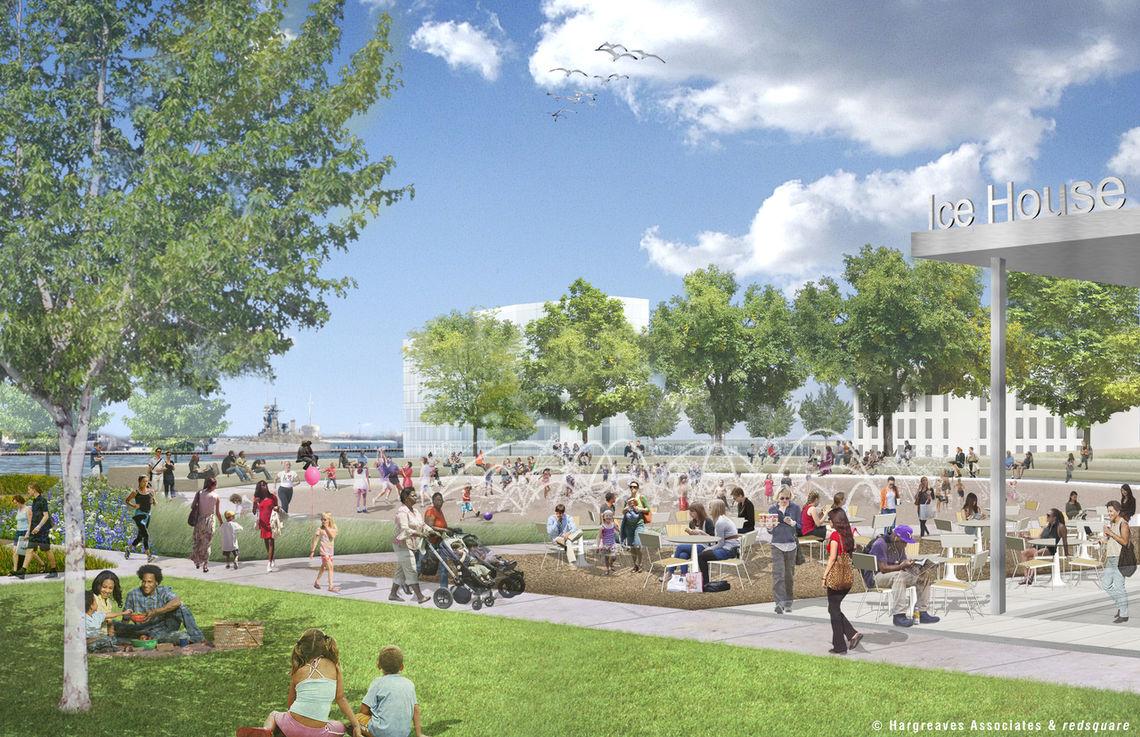 Penn's Landing Park Summer