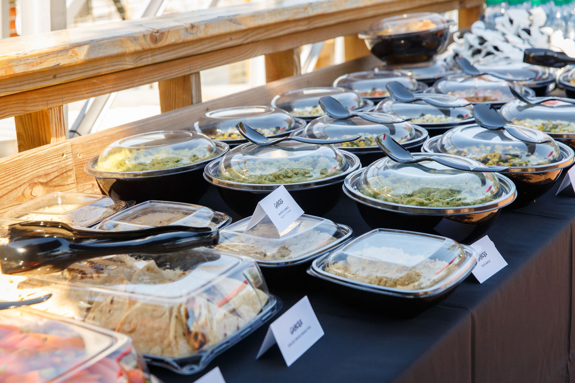 Catering by Garces Group on the north barge at Spruce Street Harbor Park