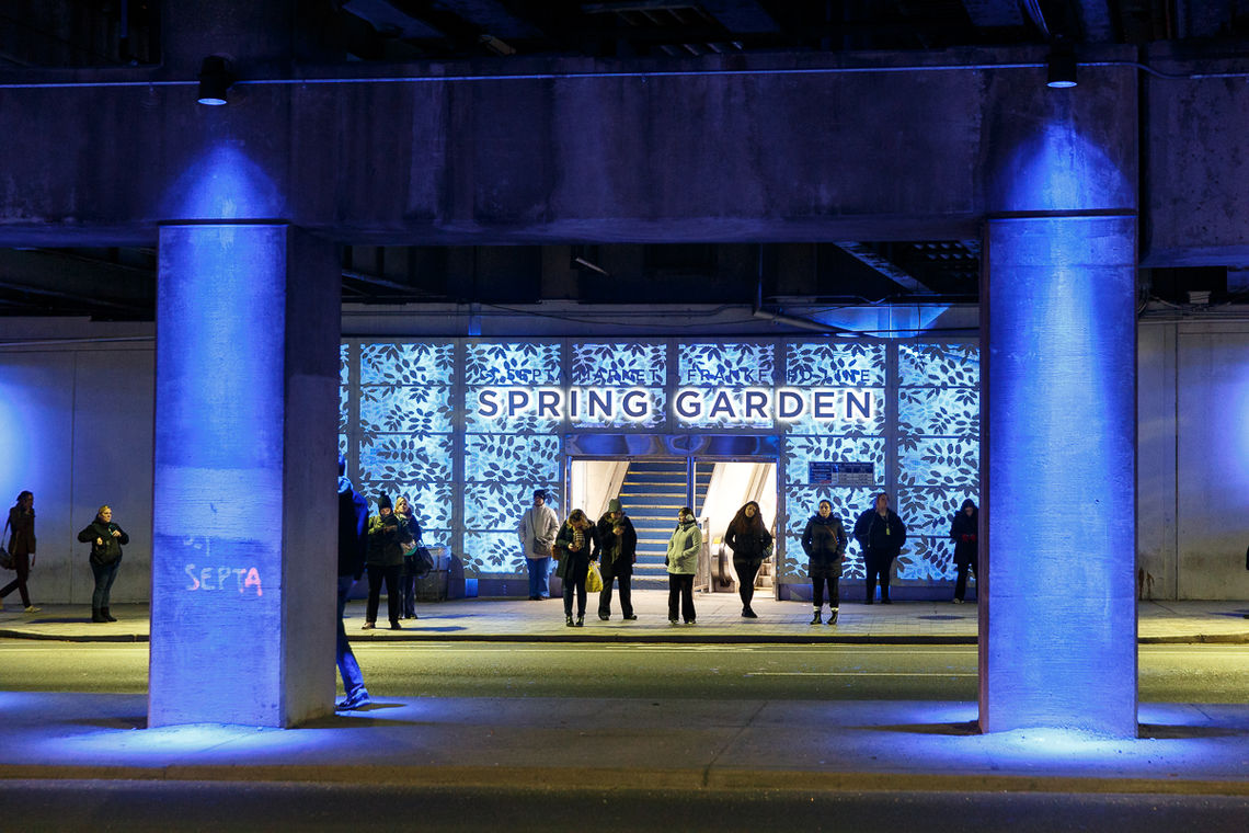 Spring Garden Connector Blue