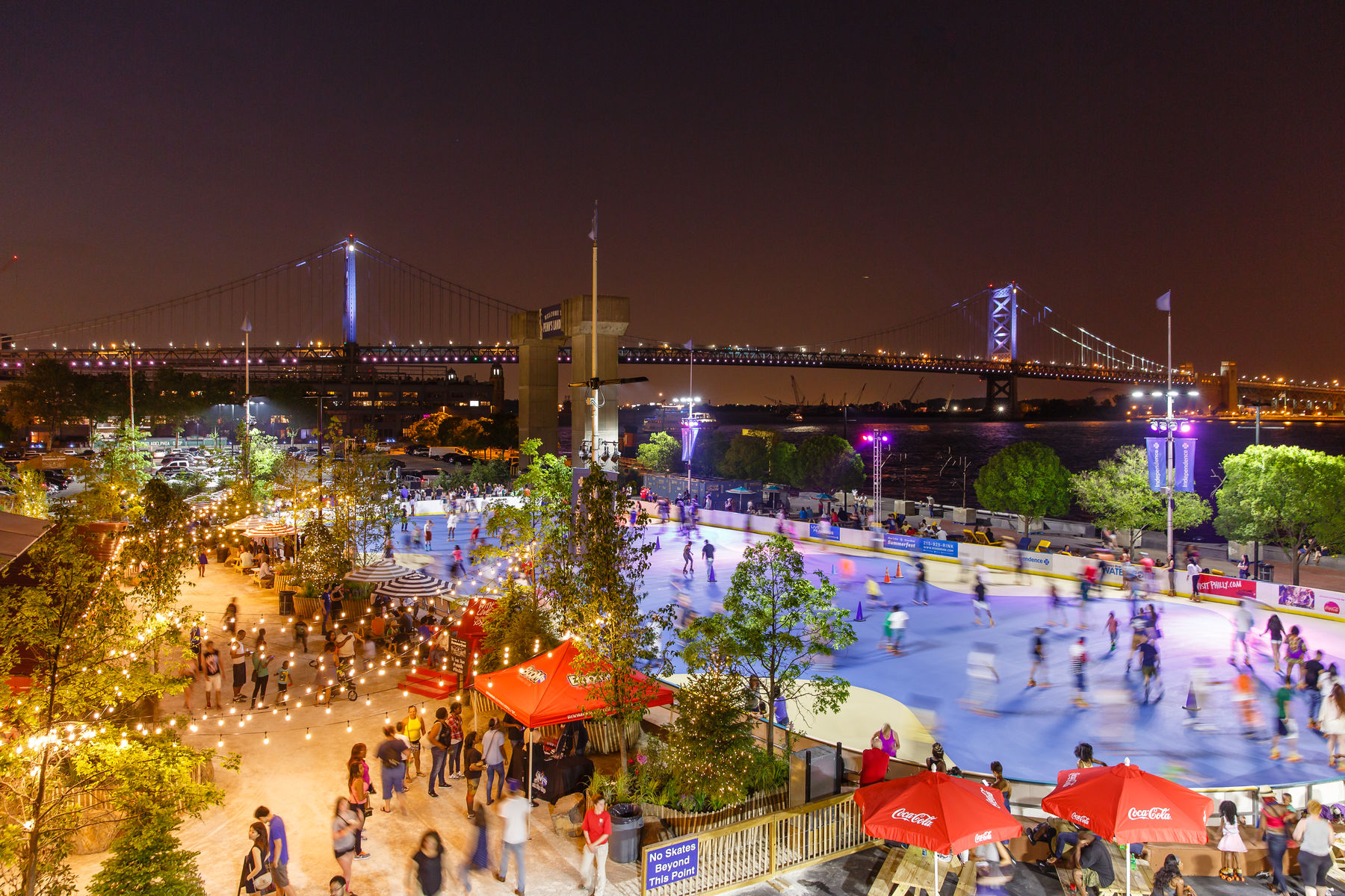 Blue Cross RiverRink Summerfest Comes Alive at Night