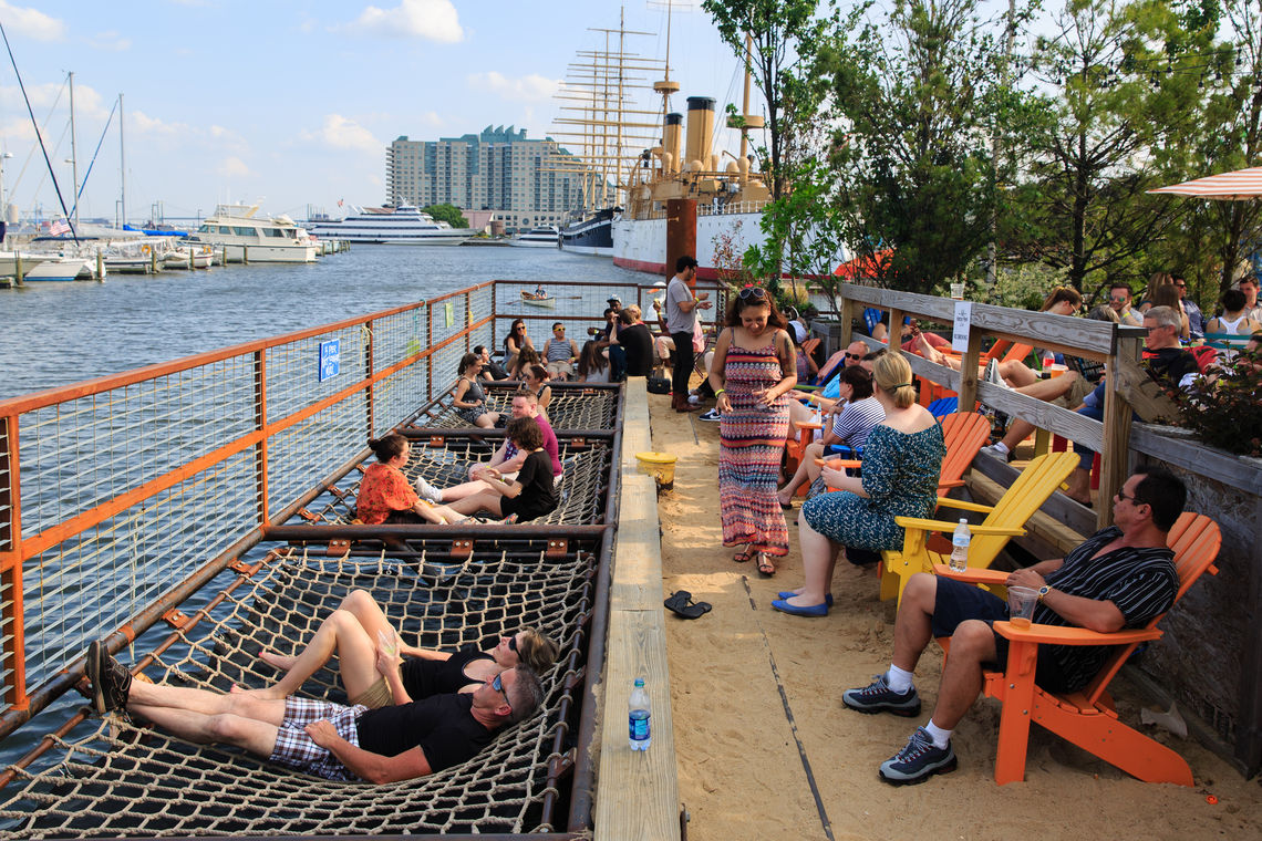 SSHP Net Lounges Hang Over the Water