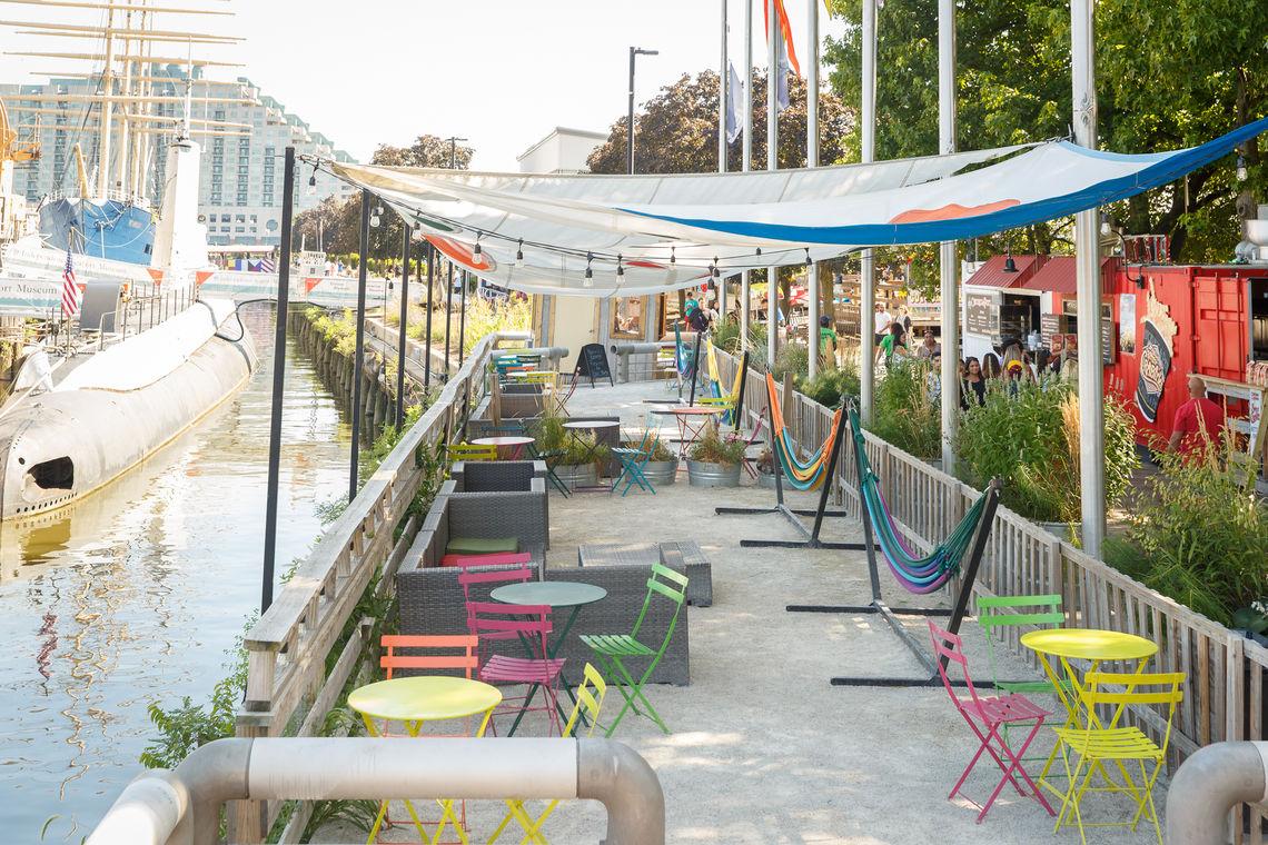Hammock Lounge at Spruce Street Harbor Park
