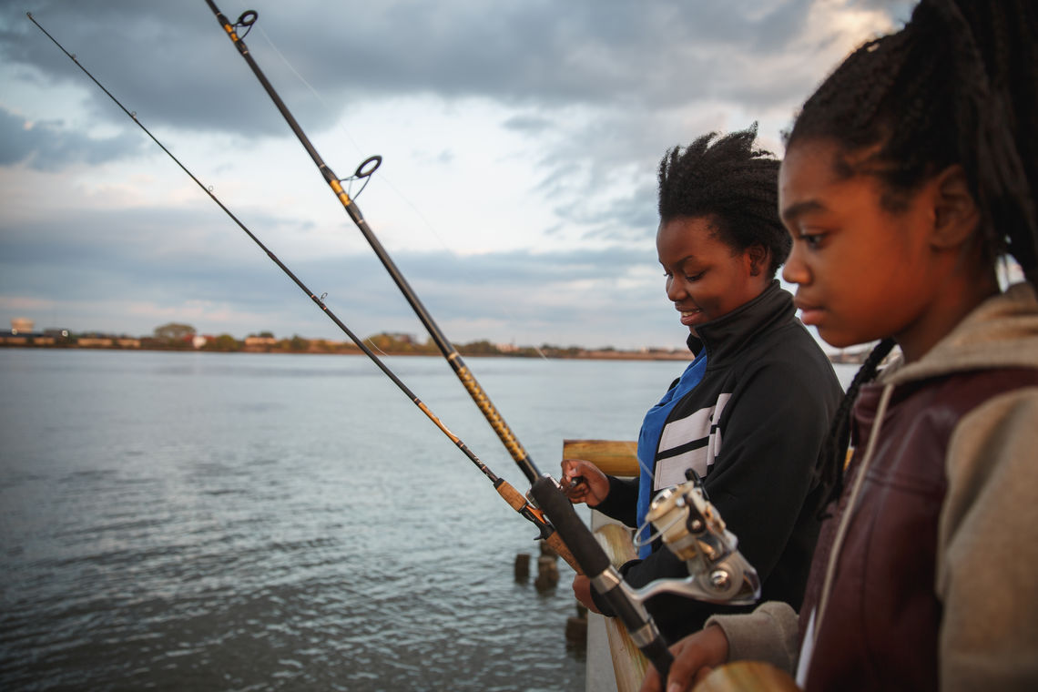 Learning how to fish on Pier 68