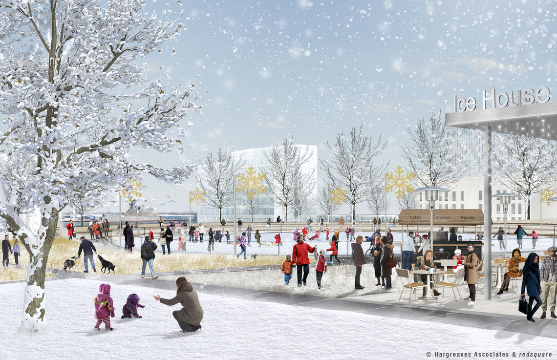 Penn's Landing Park Winter
