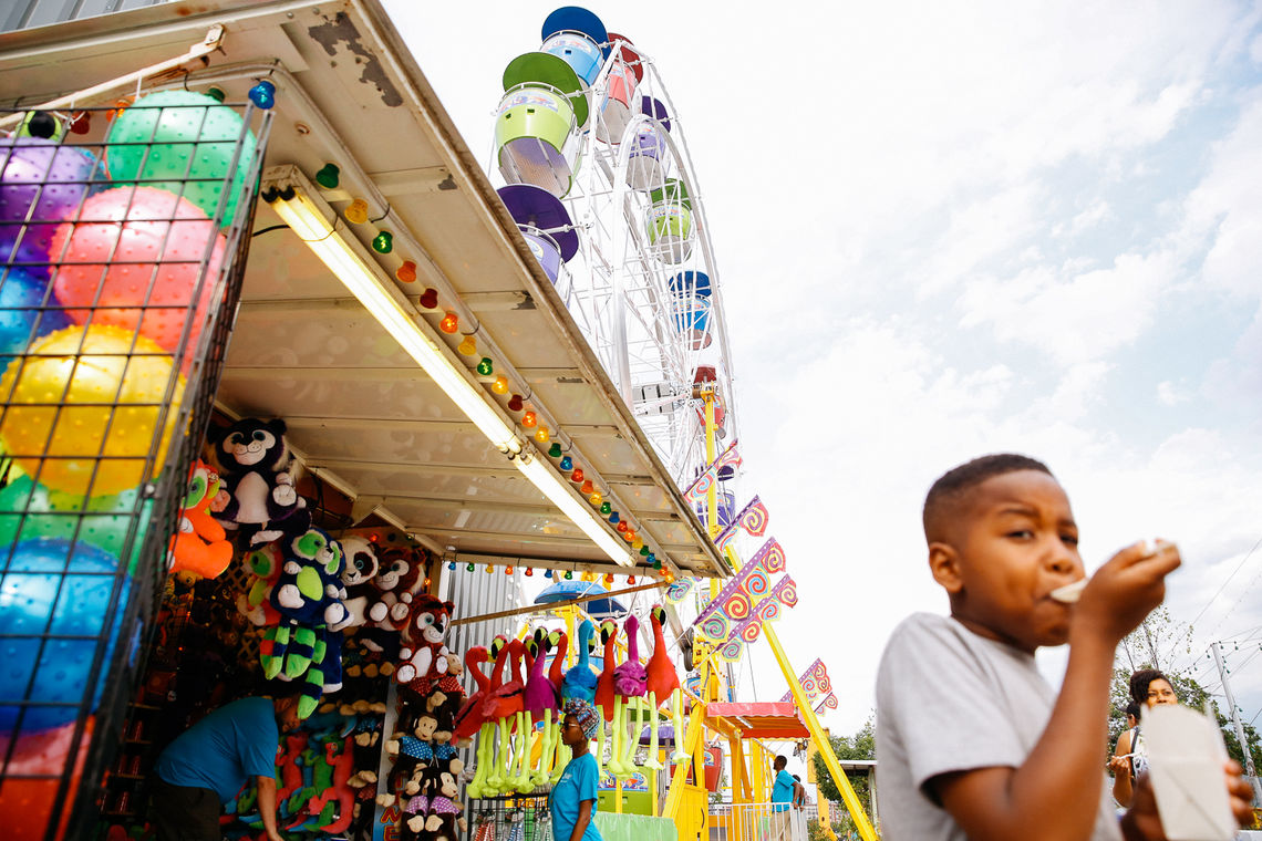 Boardwalk-style games at the Midway at Blue Cross RiverRink Summerfest