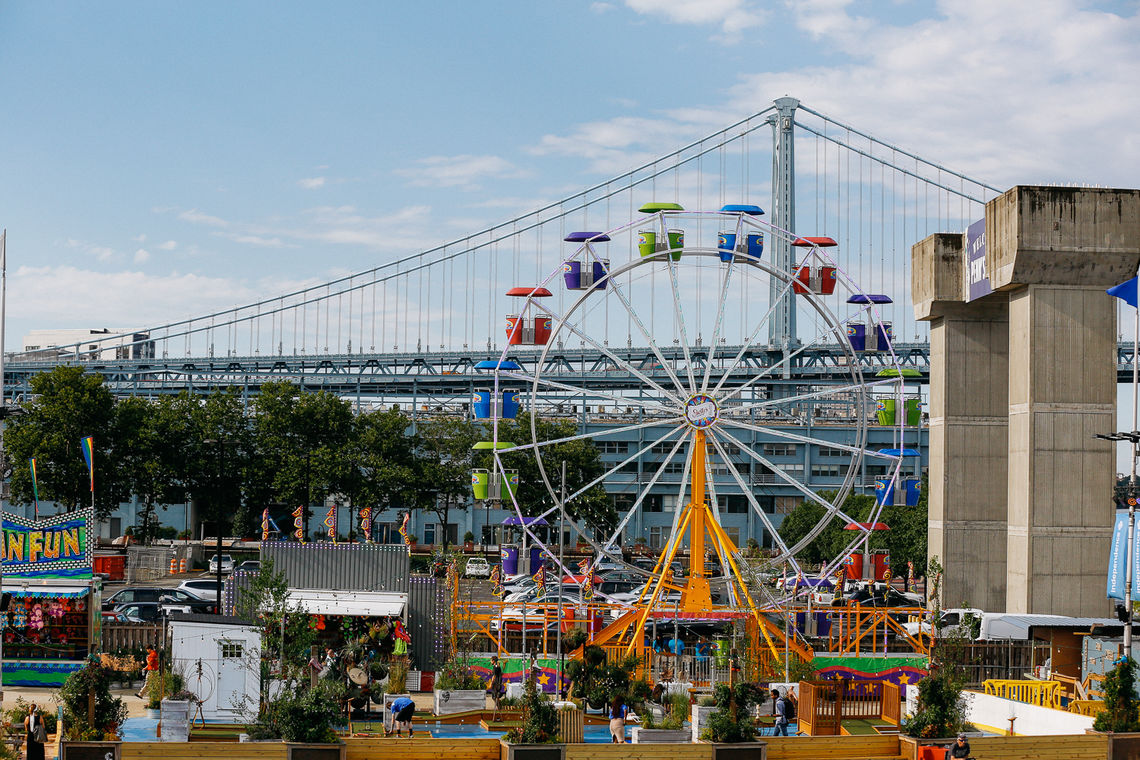 Daytime at the Midway at Blue Cross RiverRink Summerfest