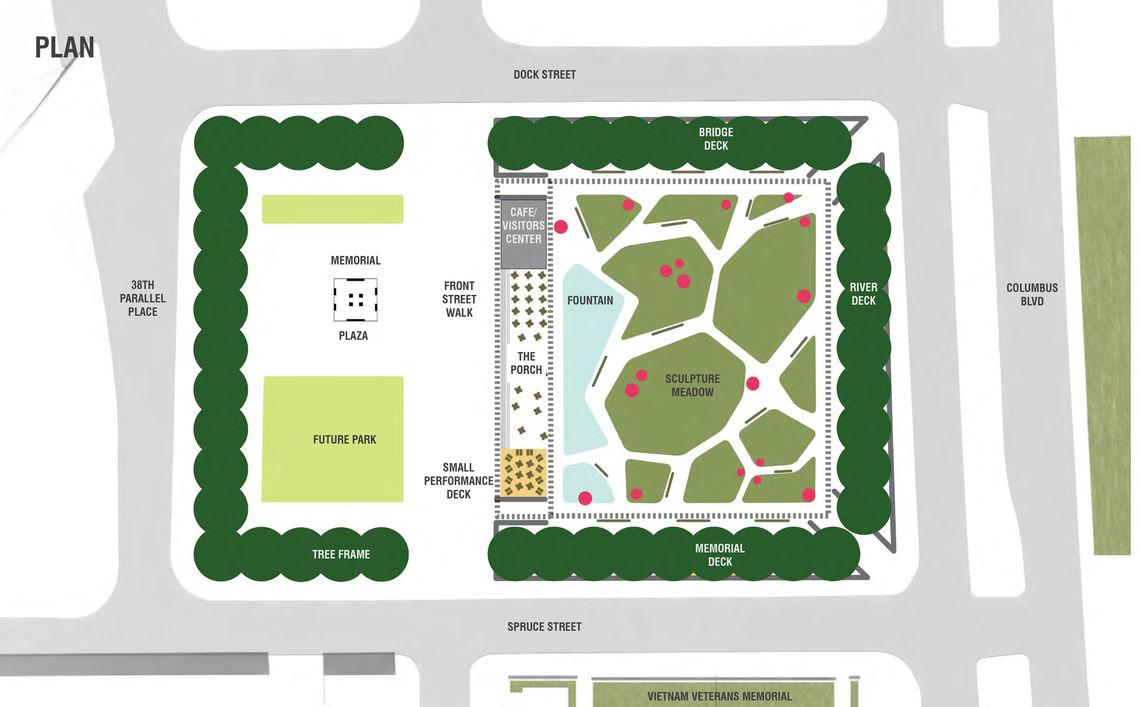 Foglietta Plaza framing site plan