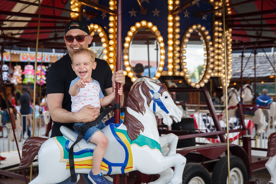 Carousel rides at Blue Cross RiverRink Summerfest
