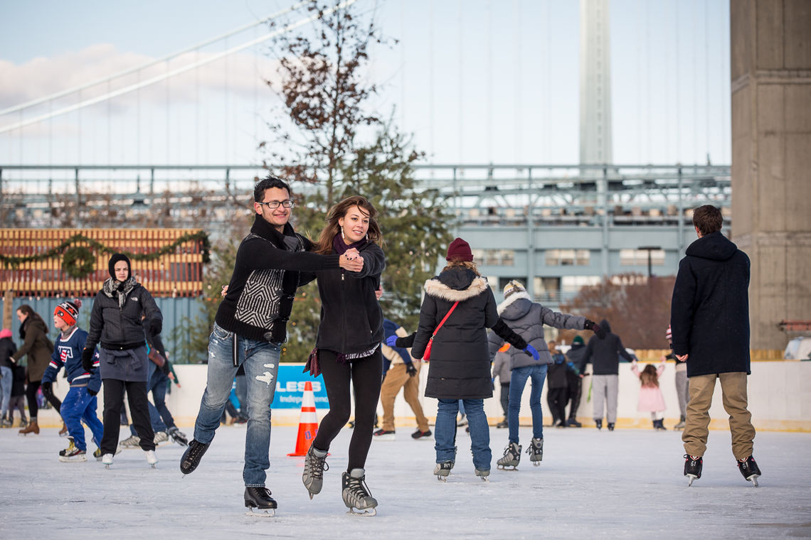 Ice Skating at Blue Cross RiverRink Winterfest