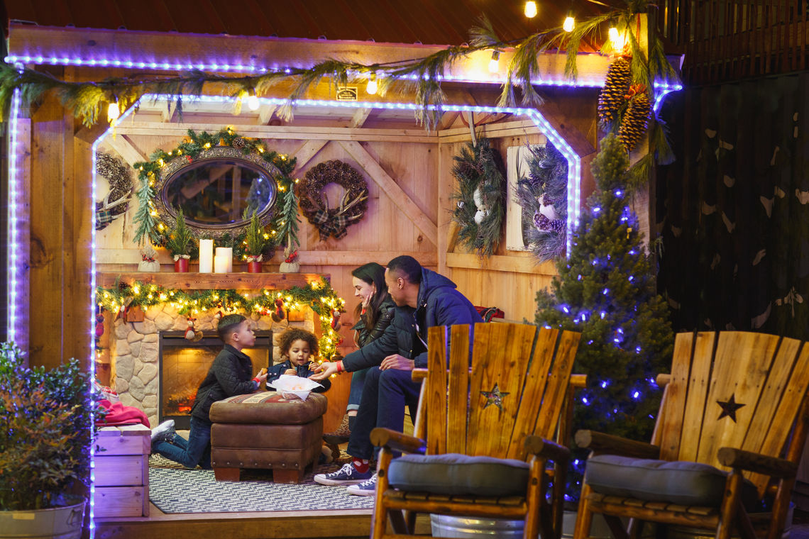 The New Winter Warming Cottages at Blue Cross RiverRink Winterfest