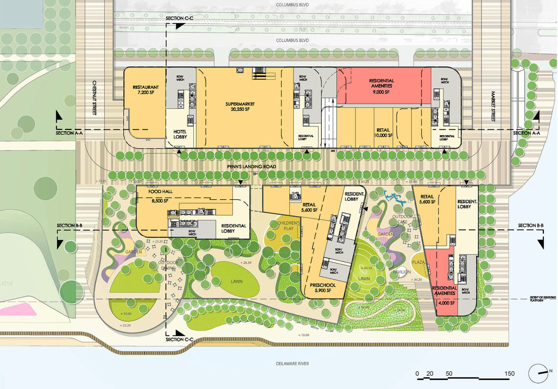 durst penns landing market street site plan