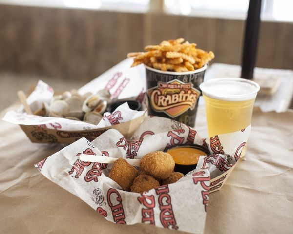 Crab Mac n' Cheese Balls, Steamers, and Famous Crabfries