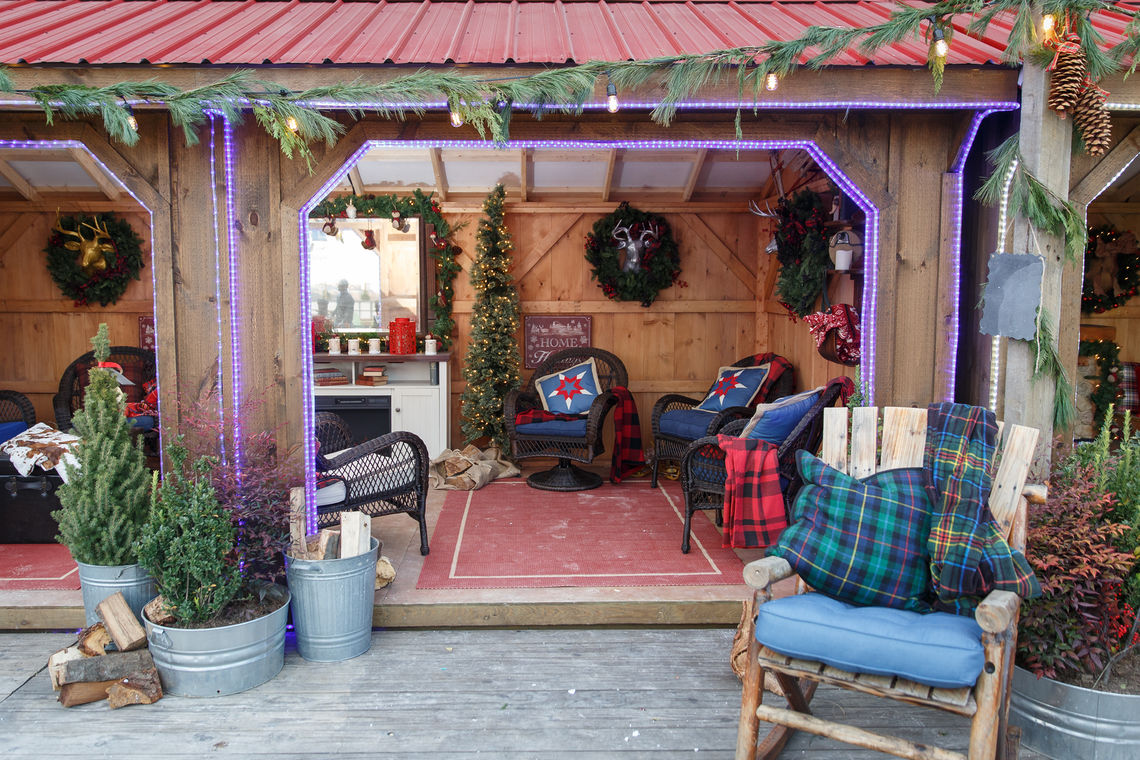 Interior of the Winter Warming Cottages at Blue Cross RiverRink Winterfest