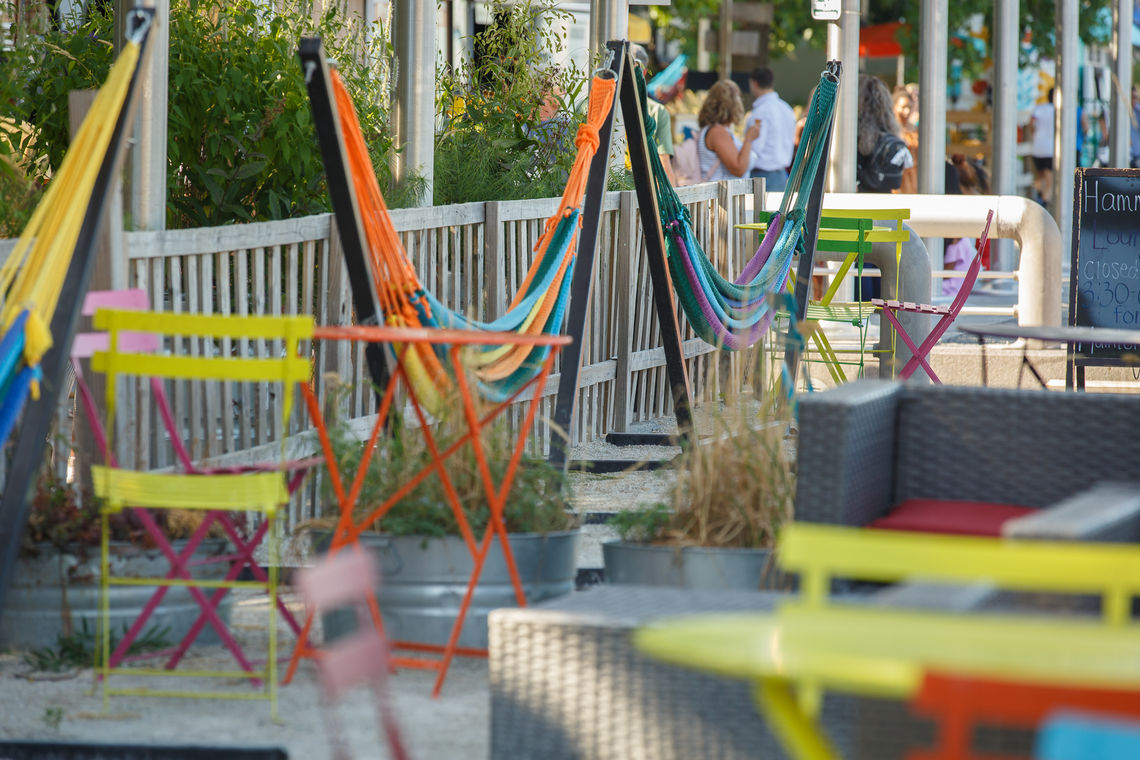 Hammock Lounge at Spruce Street Harbor Park