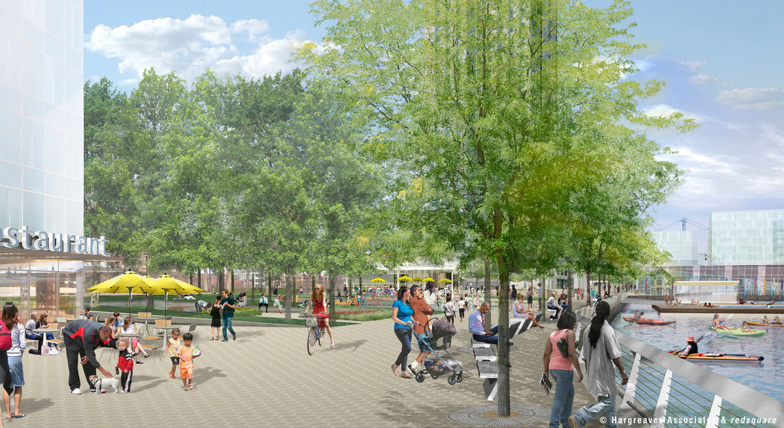 Spruce Street Harbor Park - Looking North