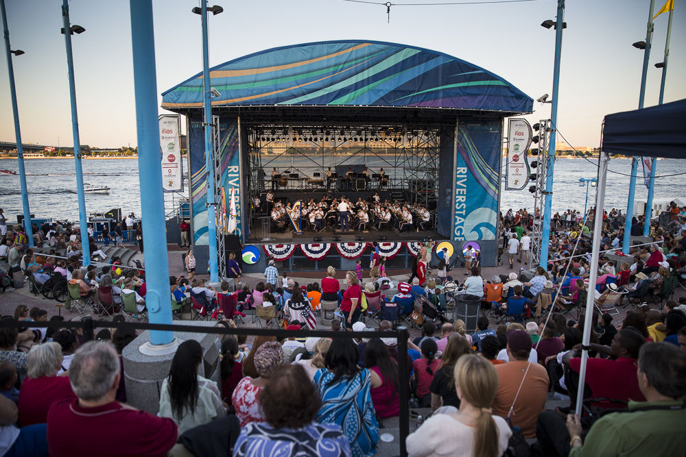 "US Army Band ""Pershing's Own"" Performing at the Great Plaza at Penn's Landing"