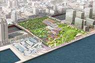 Aerial View of the New Park at Penn's Landing