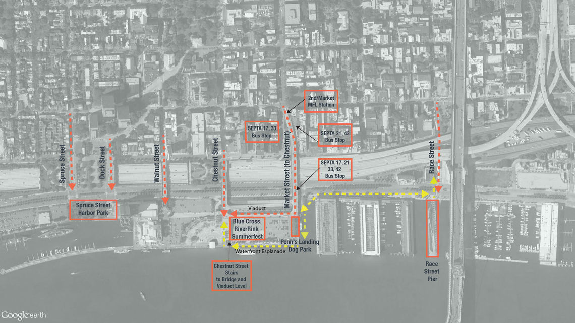 walking route access map final