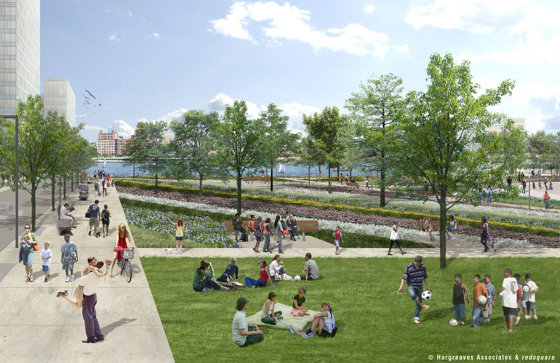 Penn's Landing Cap and Civic Space at Front and Chestnut