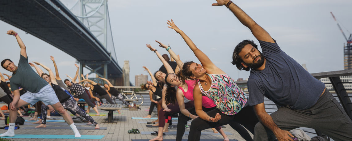 Free Yoga at Race Street  Pier Presented By Independence Blue Cross