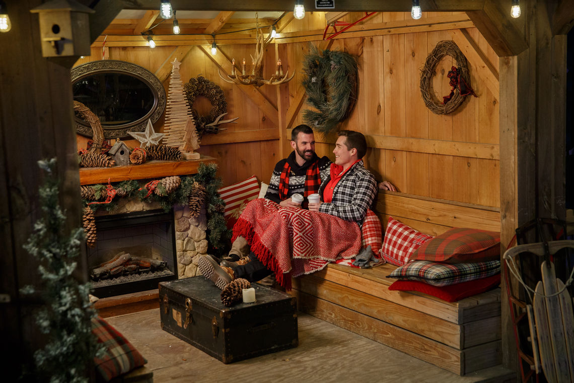 Getting cozy in a cabin