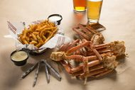 Chickie's and Pete's Famous CrabFries and Crab Legs