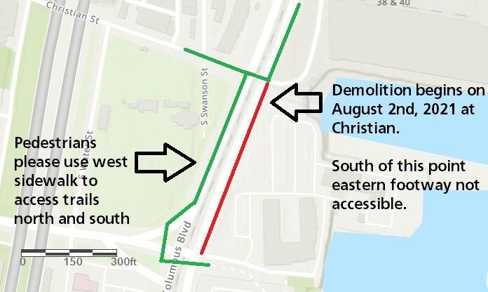 drt construction map for christian street constructionchristian