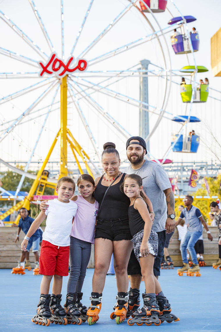 Family night at Blue Cross RiverRink Summerfest