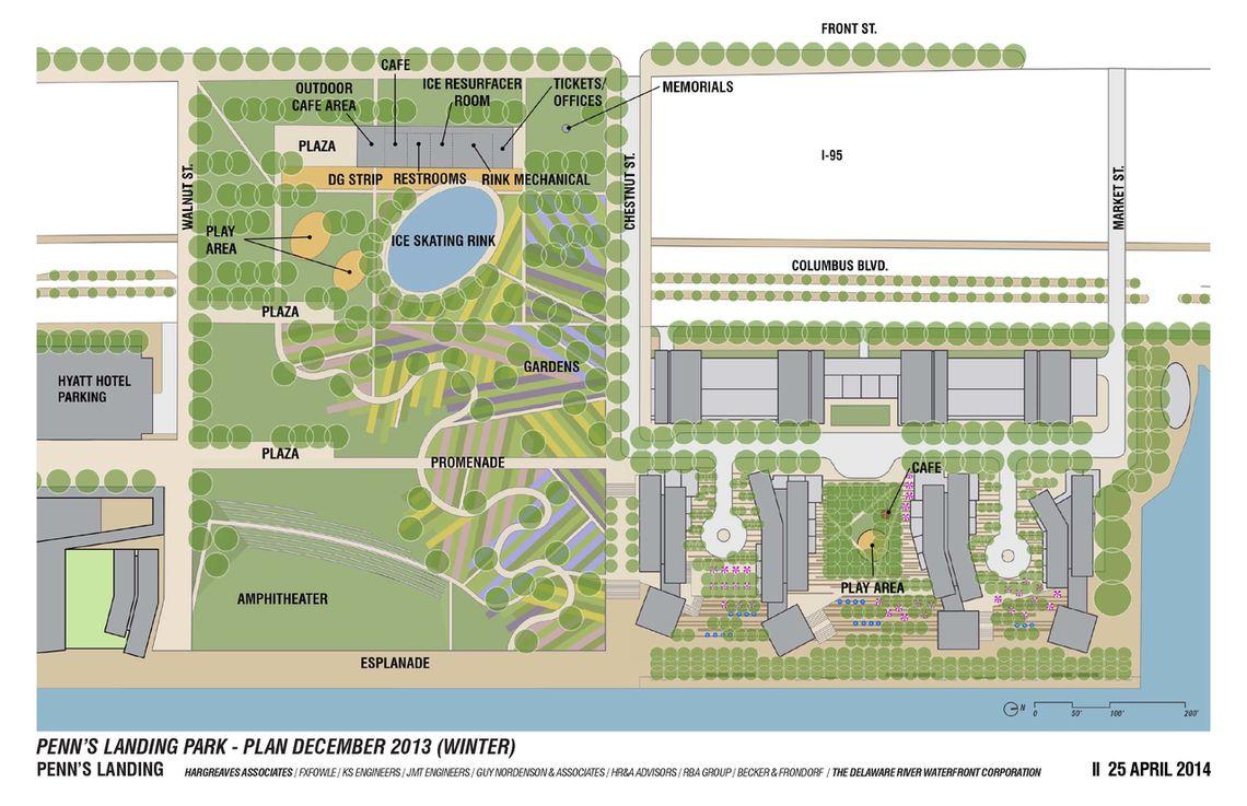 pl park and market street site plan